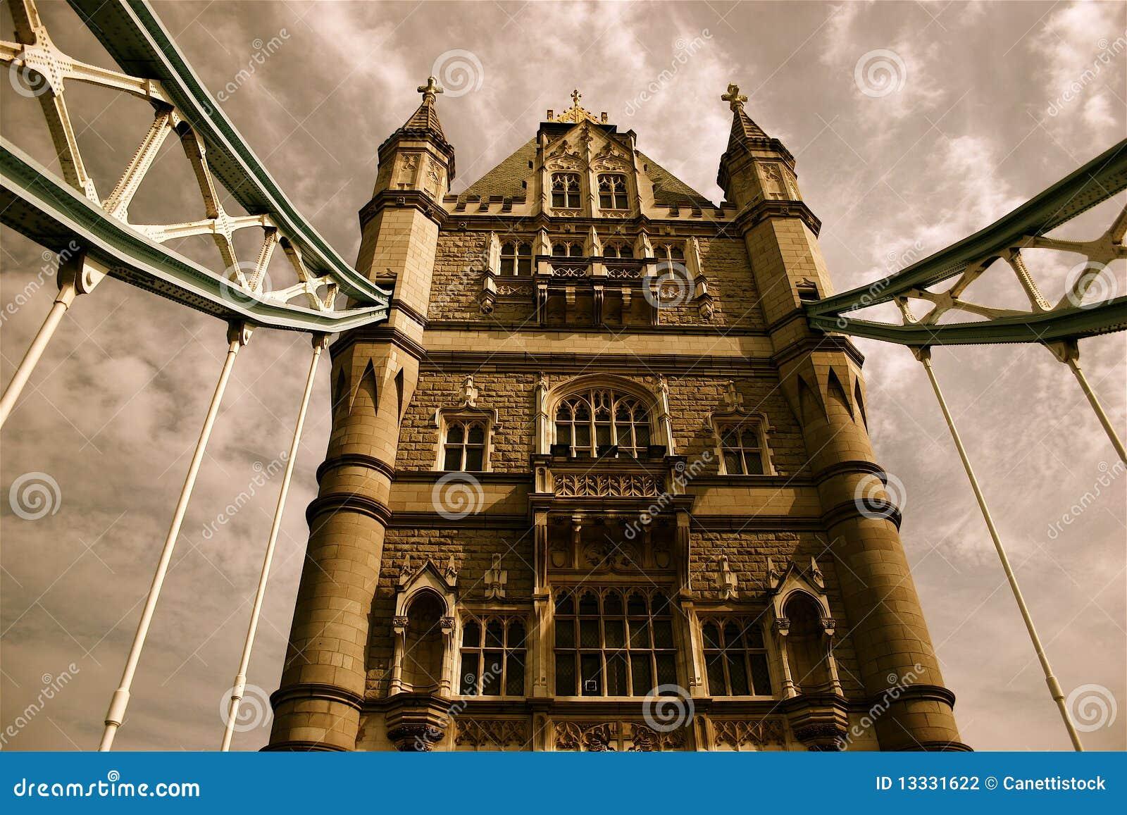 Bridżowy London nostalgicznego wierza