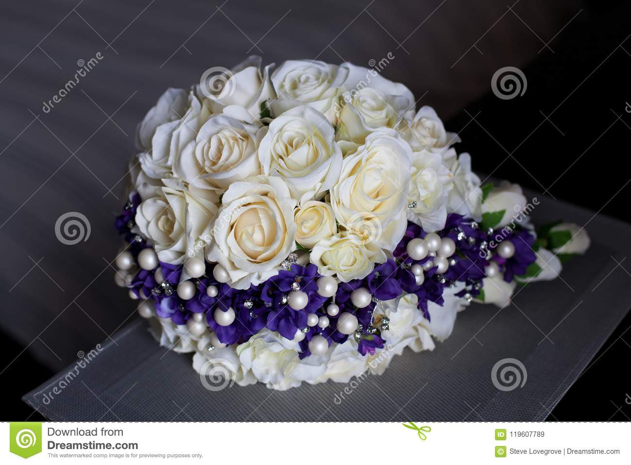 Wedding Bouquet Of Artificial Flowers Stock Image Image Of