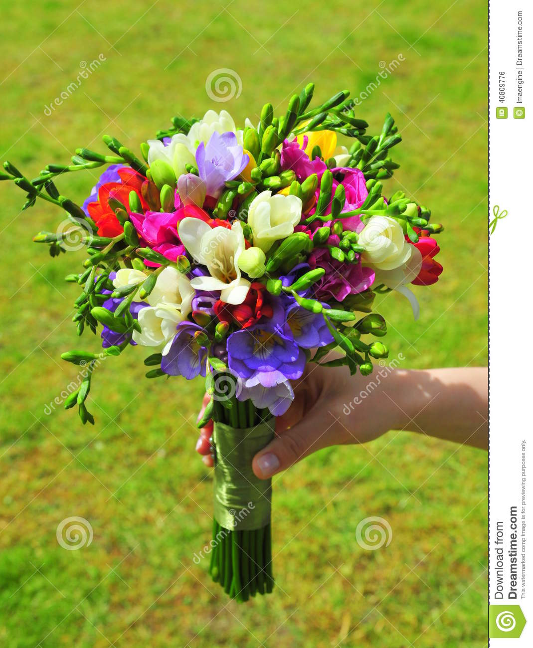 Average Cost Of Wedding Flowers 2014: Bridal Bouquet Of Freesia Flowers Stock Photo