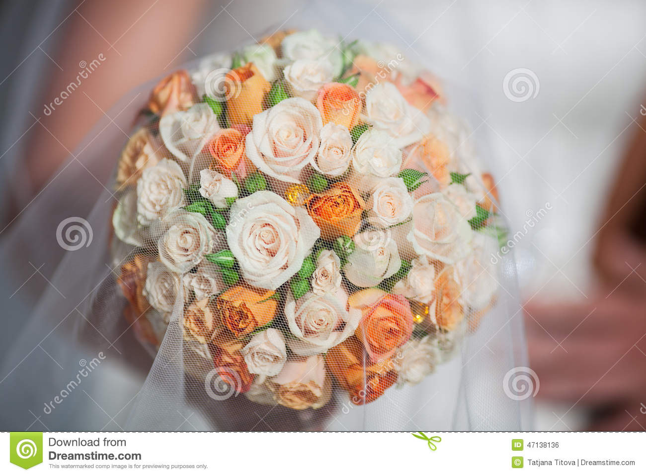 Bridal bouquet with orange and white roses stock photo image of bridal bouquet with orange and white roses flora love mightylinksfo