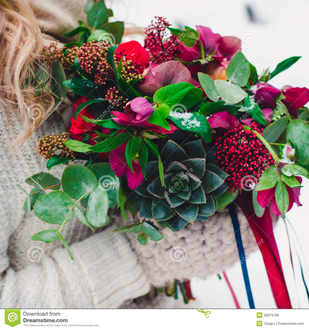 Bridal Bouquet With Red And Burgundy Colors Stock Image Image Of Flower Anniversary 50079799