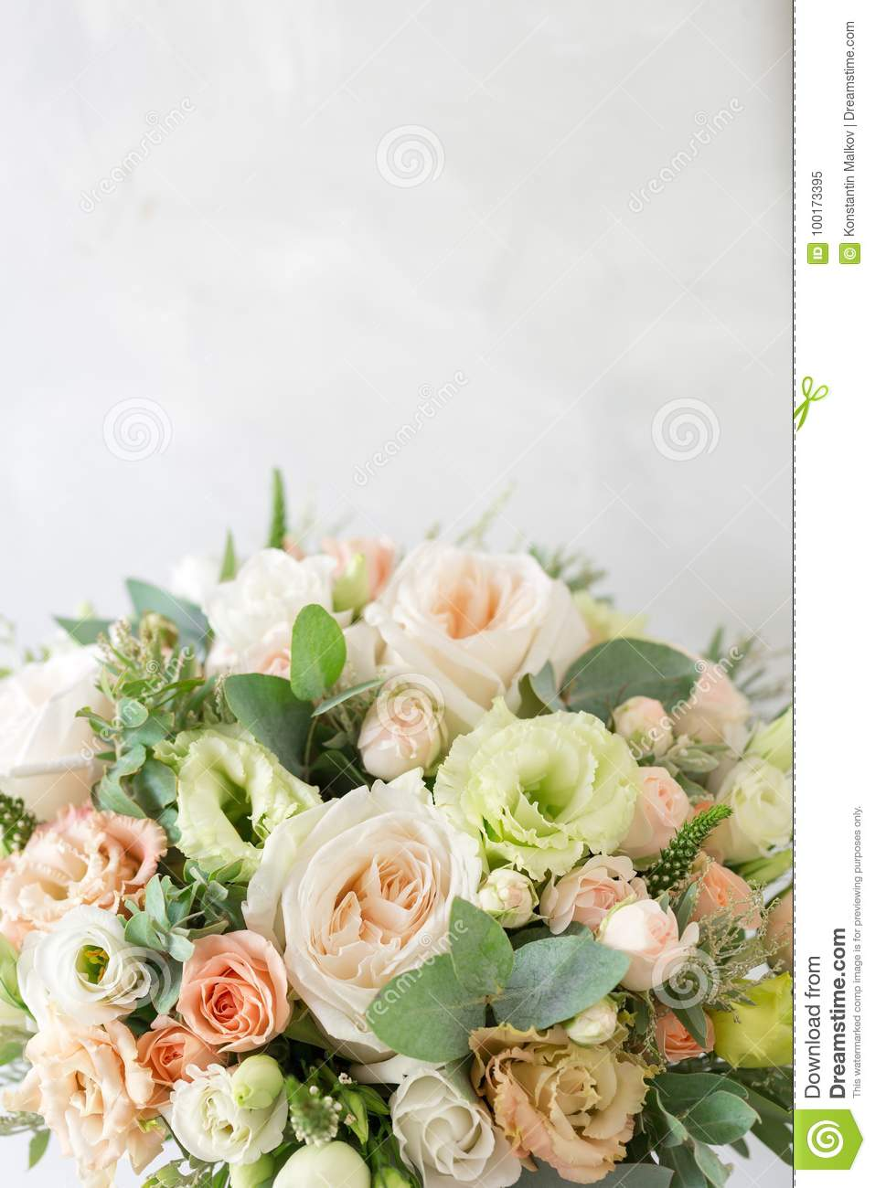 Bridal bouquet a simple bouquet of flowers and greens stock image download bridal bouquet a simple bouquet of flowers and greens stock image image of izmirmasajfo