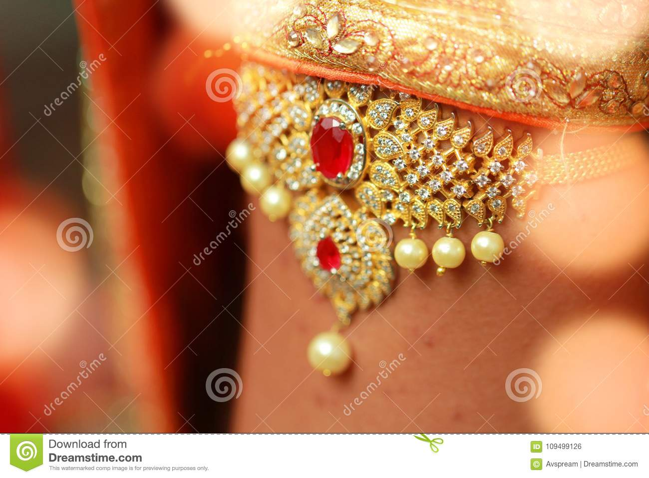 Bridal Dress And Hand Of Bride Indian Wedding Preparation Luxury Oriental Fashion Beauty Accessories
