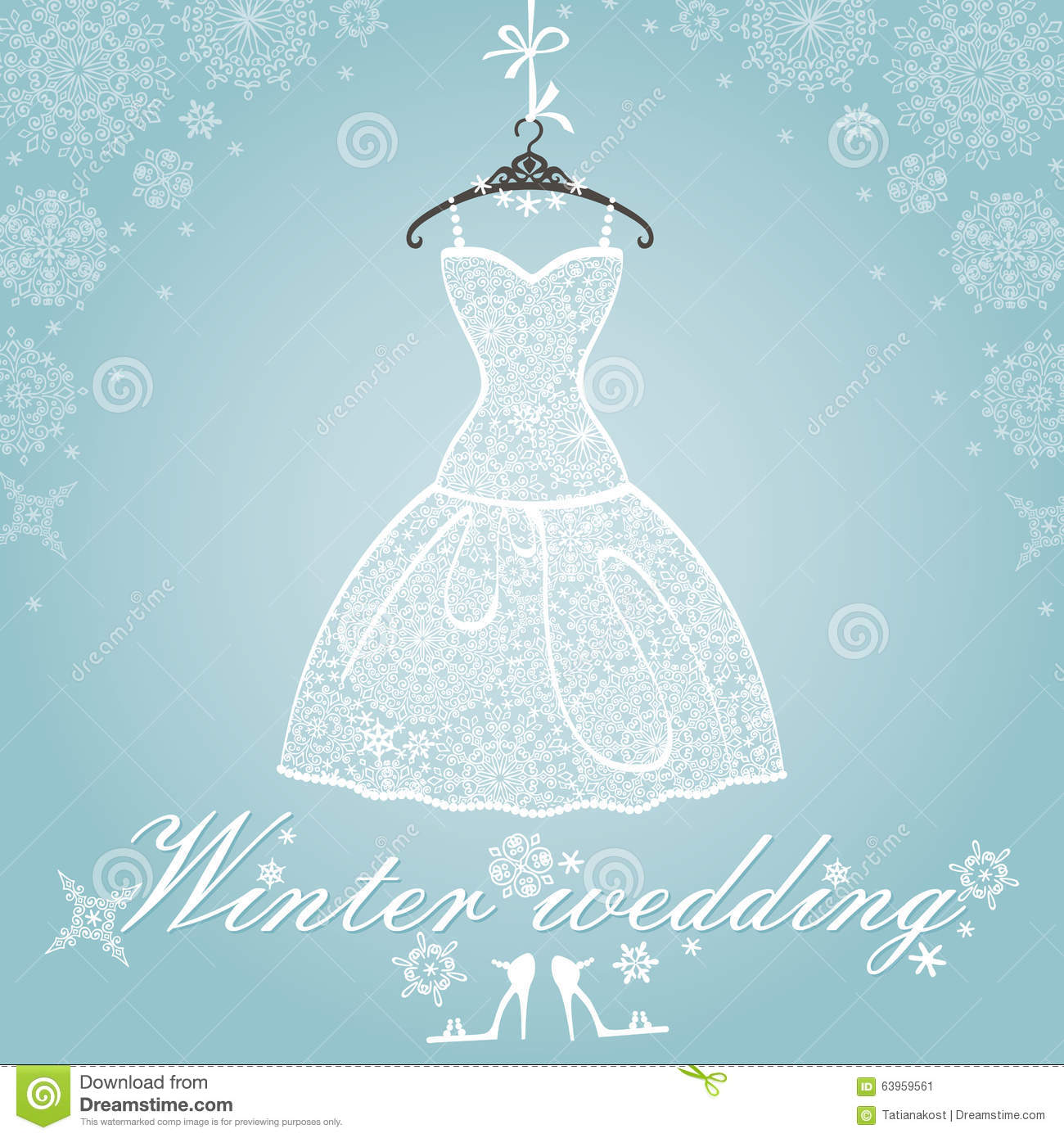 Bridal Dress.Wedding Snowflake Winter Lace Stock Vector ...