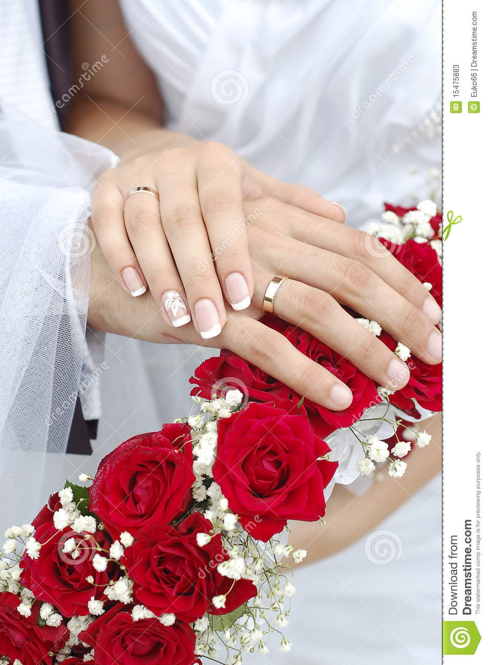Wedding Gifts For Relatives : Bridal Groom Wedding Hands On Bouquet Stock PhotosImage: 15475883