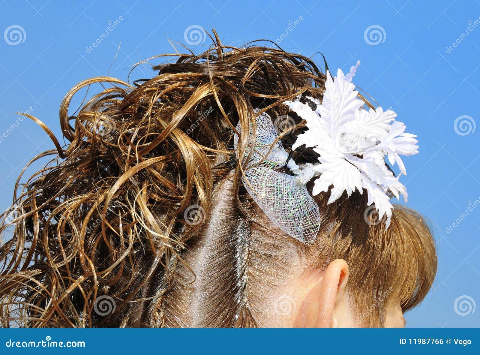 bridal hair design royalty free stock image - image: 11987766