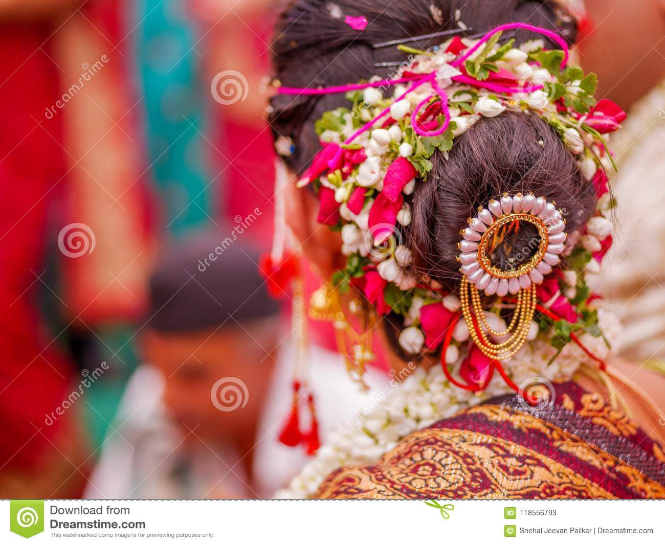 Bridal Hair Style Editorial Stock Photo Image Of Henna