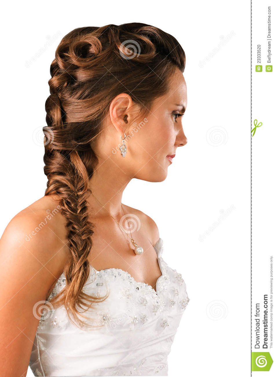 Bridal Hairdo Plate Isolated On White Stock Photo Image Of Face