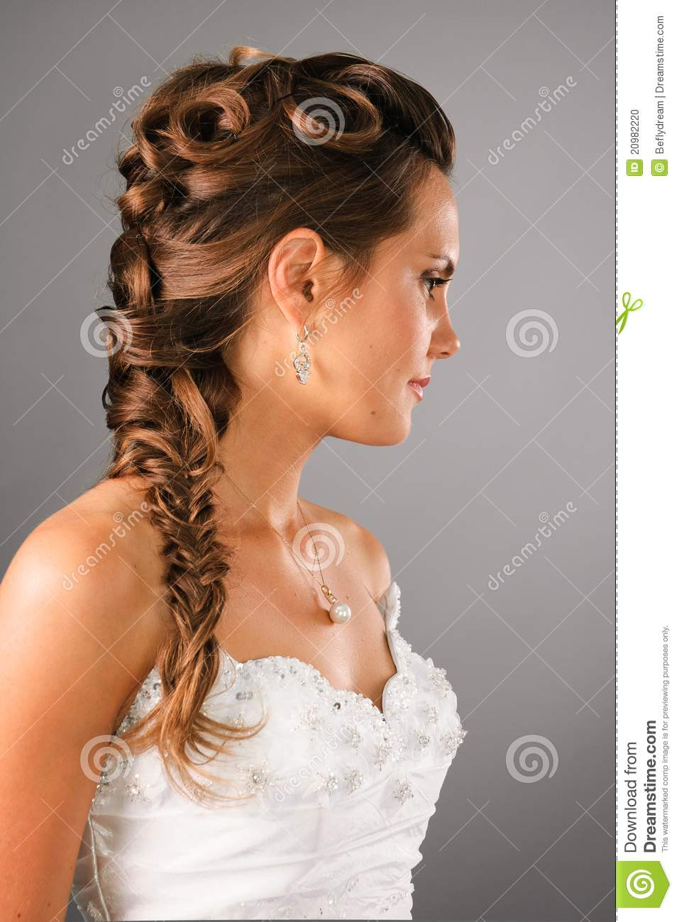 Bridal Hairdo With A Plate In Studio Stock Photo Image Of Bridal
