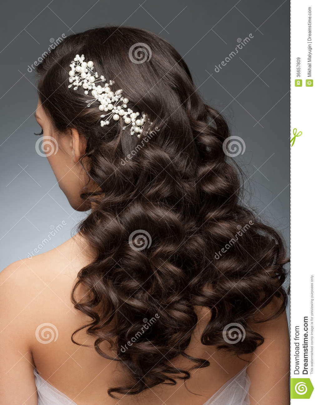 bridal hairstyle royalty free stock images - image: 36657809