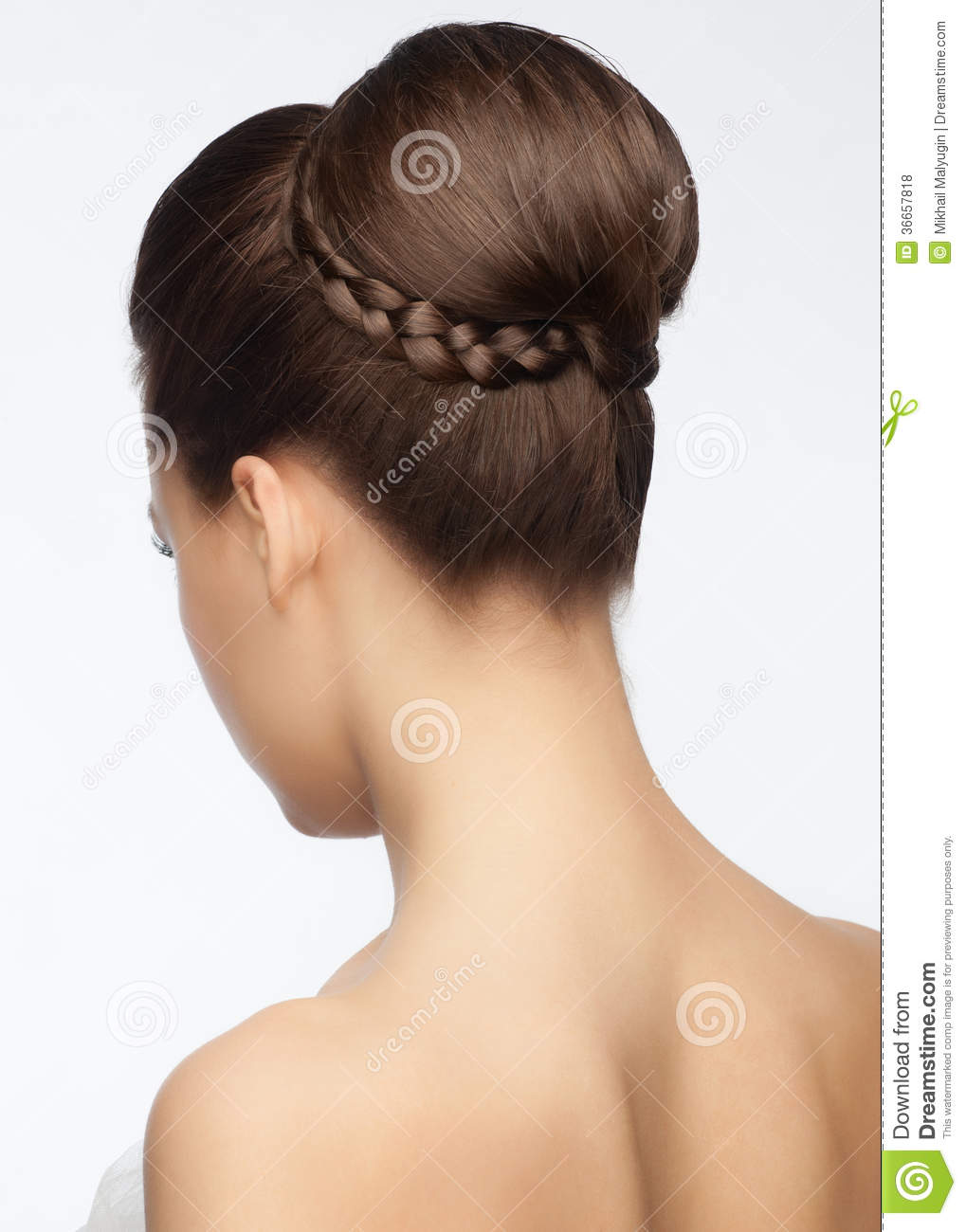 Bridal Hairstyle Stock Photo Image Of Gorgeous Attractive 36657818