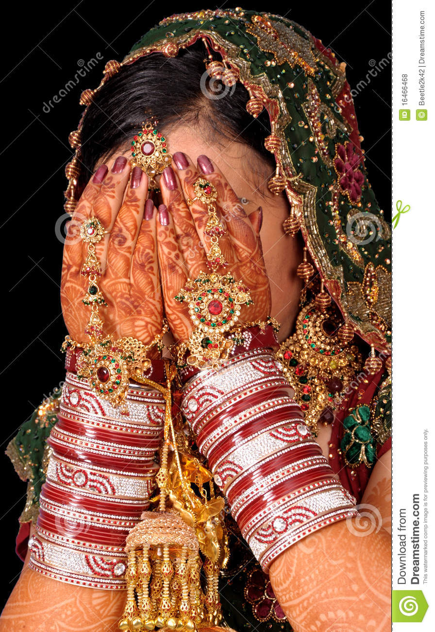 Bridal Hands On Face Stock Photo Image Of Bride Young