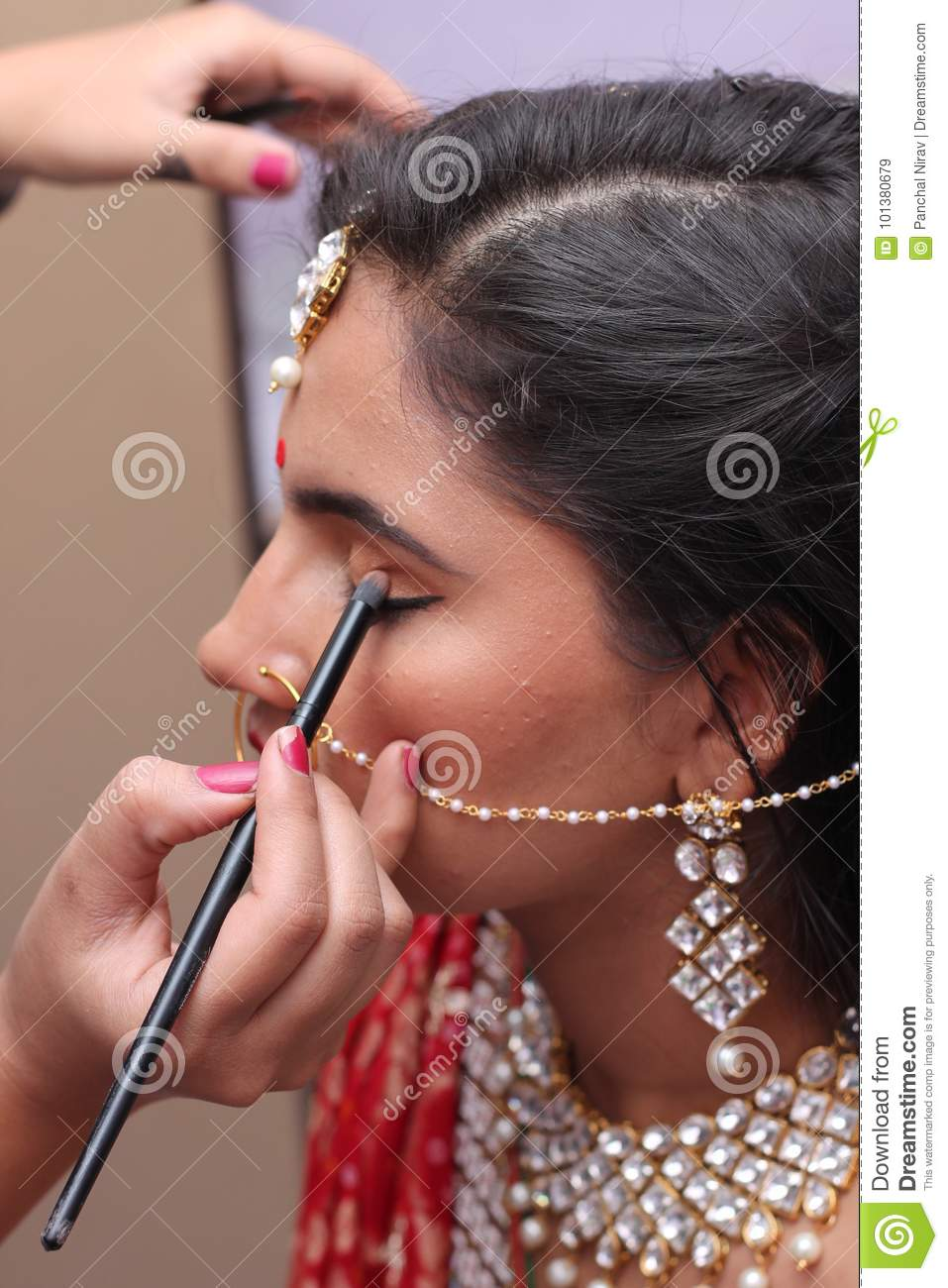Bridal Makeup India Editorial Stock Image Image Of Late 101380679