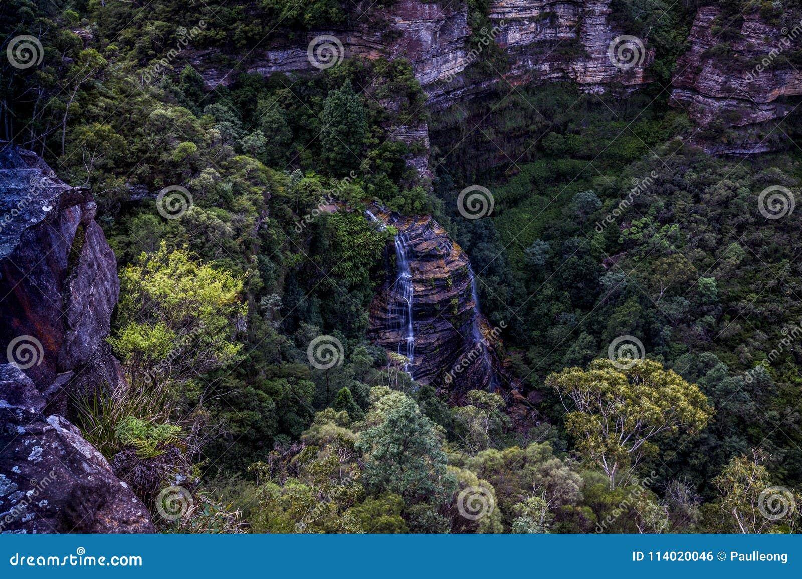 Bridal przesłona spadki, Błękitny góra park narodowy