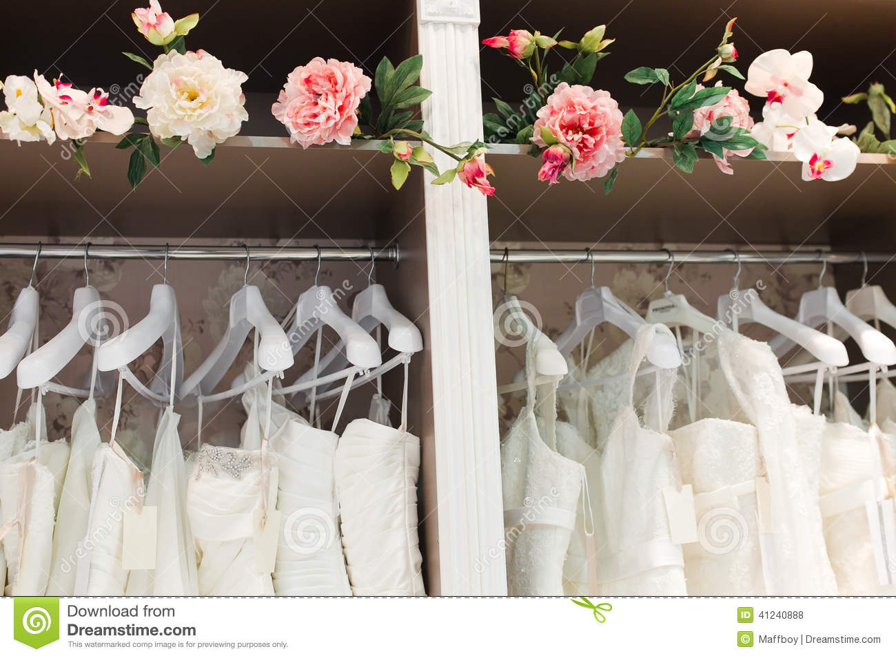 wedding decor shops bridal shop stock photo image of salon closet decor 9008
