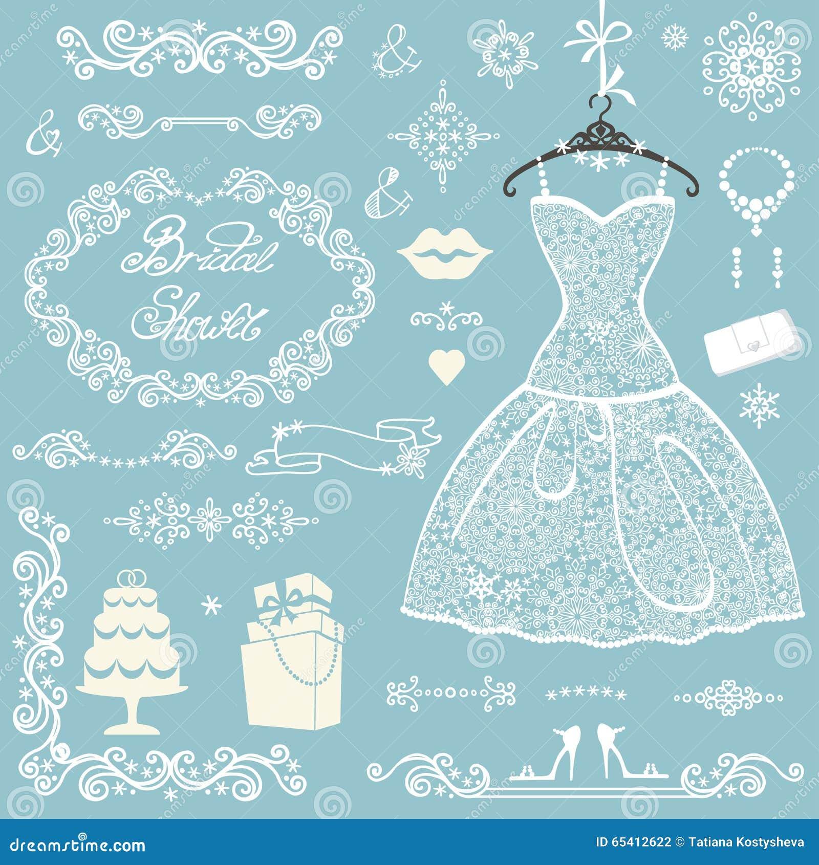 Bridal Shower Decoration Set.Winter Wedding Stock Photo - Image of ...