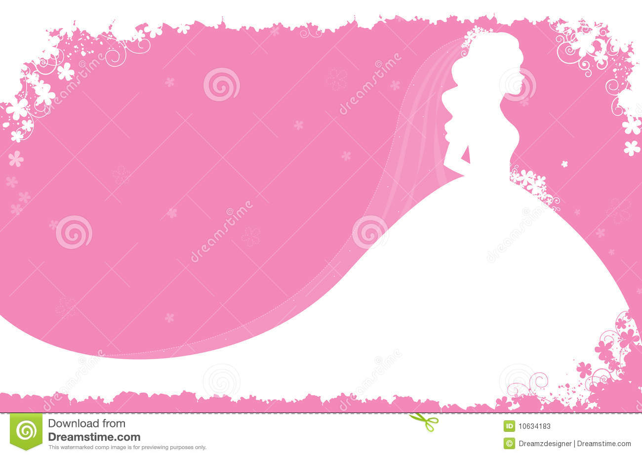 Bridal shower / wedding invitation card background with a beautiful