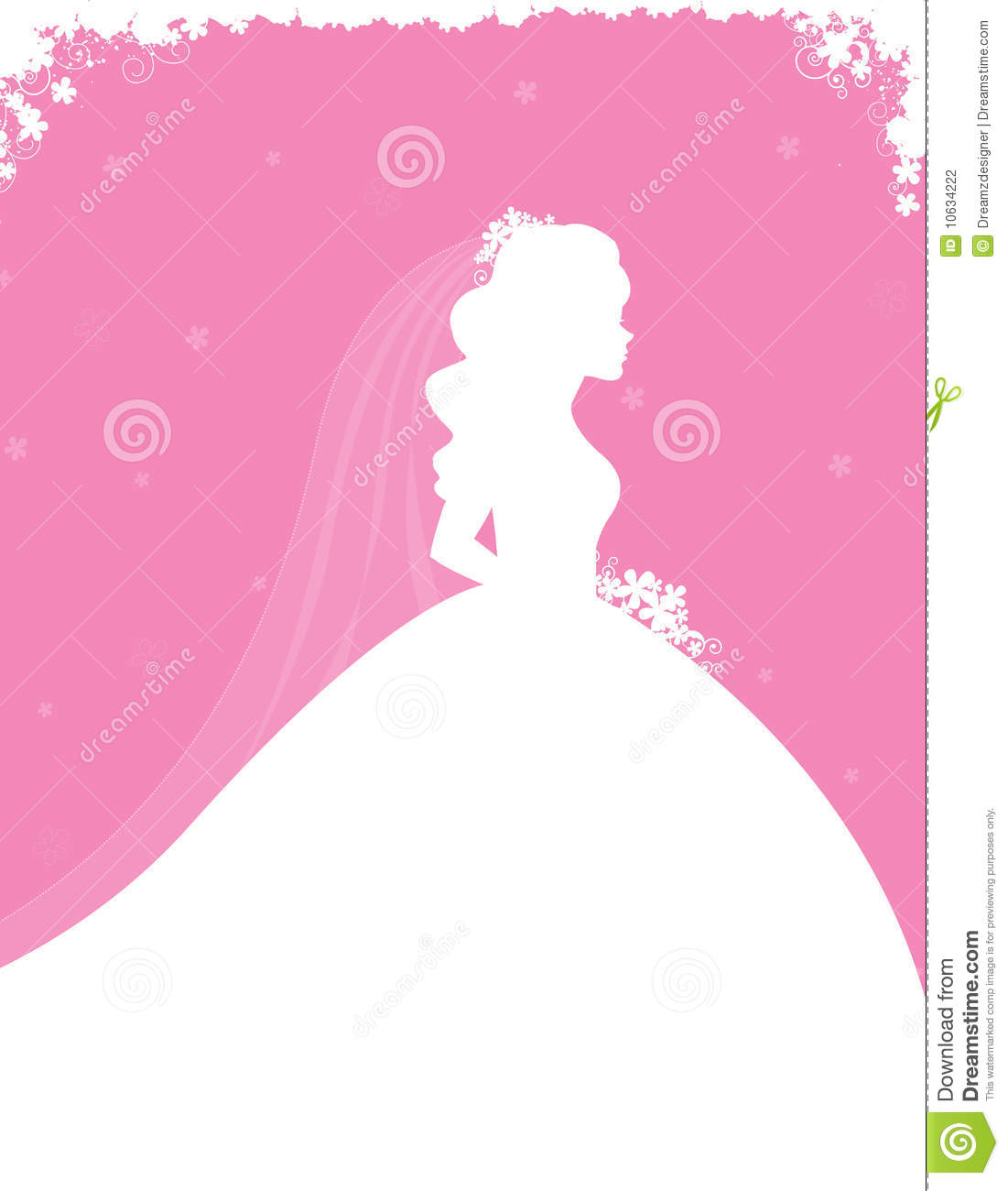 Bridal Shower Invitation Stock Vector Image Of Bride