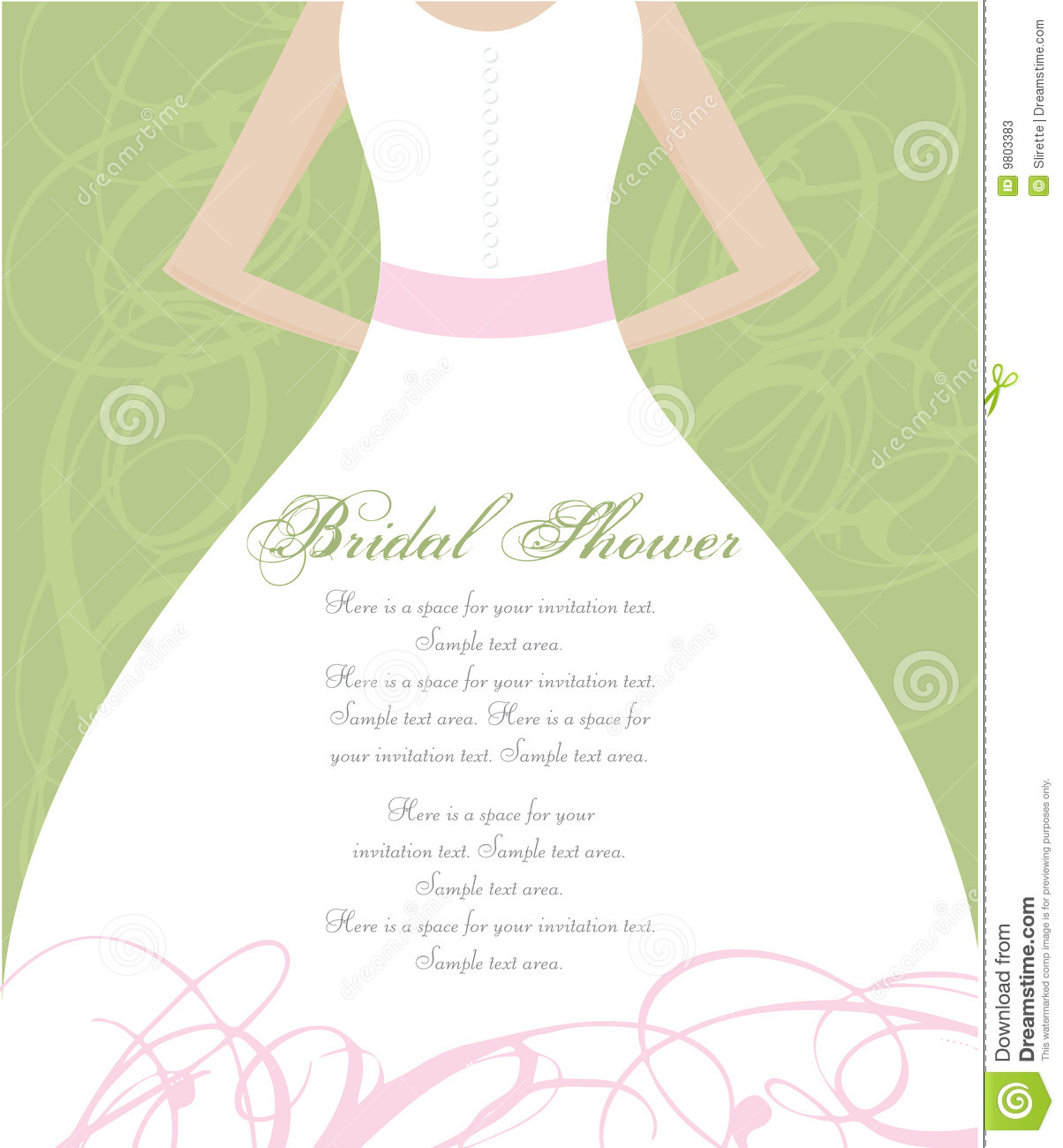 Bridal Shower Invitation stock vector Illustration of invite 9803383