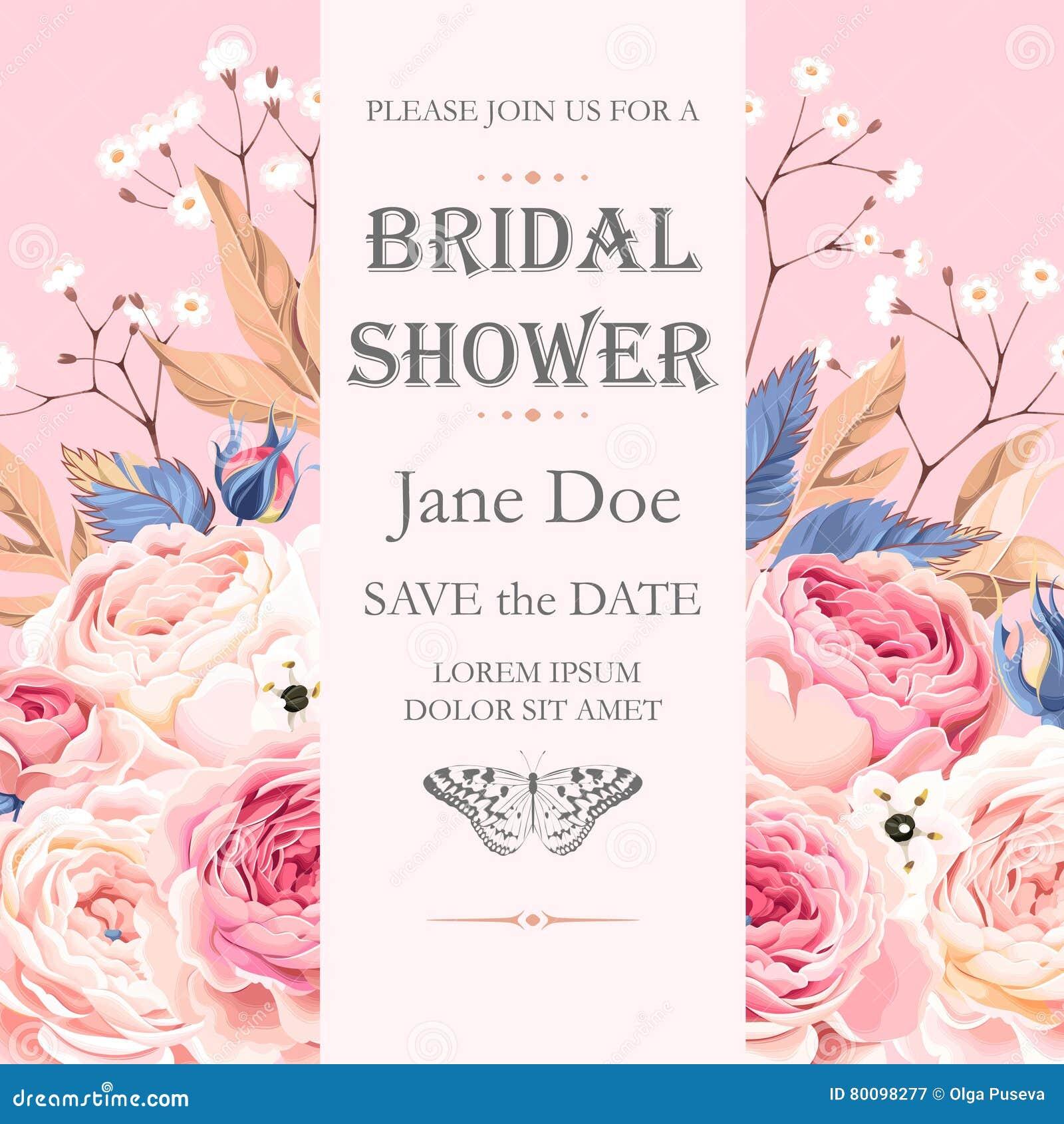 Bridal shower invitation stock vector illustration of frame 80098277 bridal shower invitation royalty free vector stopboris Image collections