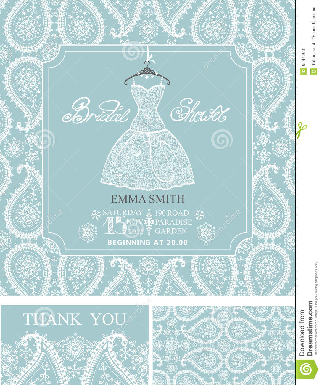 bridal shower invitationswinter wedding ornament