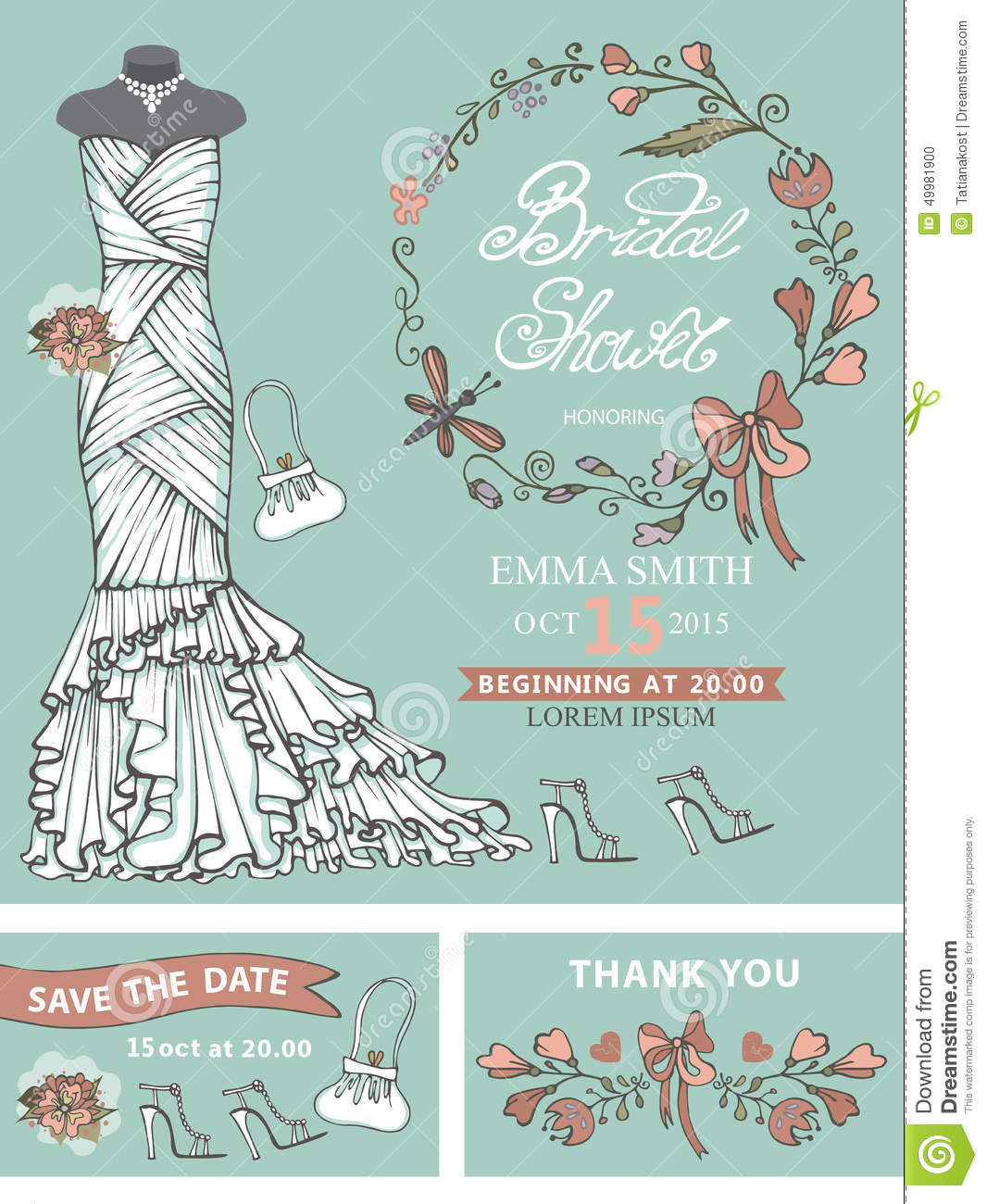 Bridal Shower Invitation Template for great invitation example