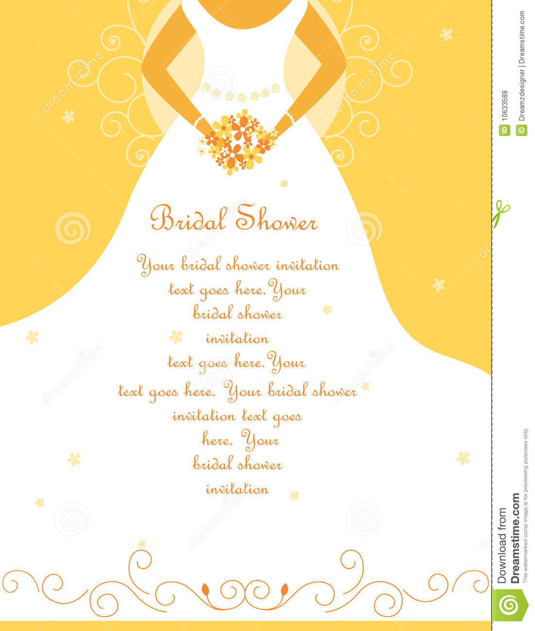 Bridal Shower Wedding Invitation Stock Vector