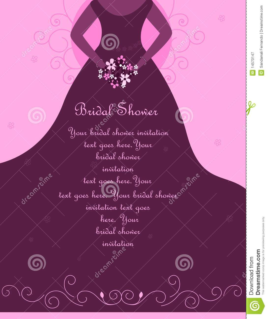 Bridal Shower / Wedding Invitation  Bridal Shower Invitation Templates Download