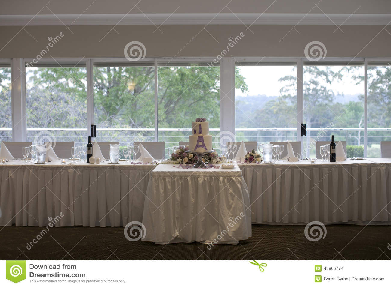 Royalty Free Stock Photo Download Bridal Table And Wedding Cake Reception Set Up