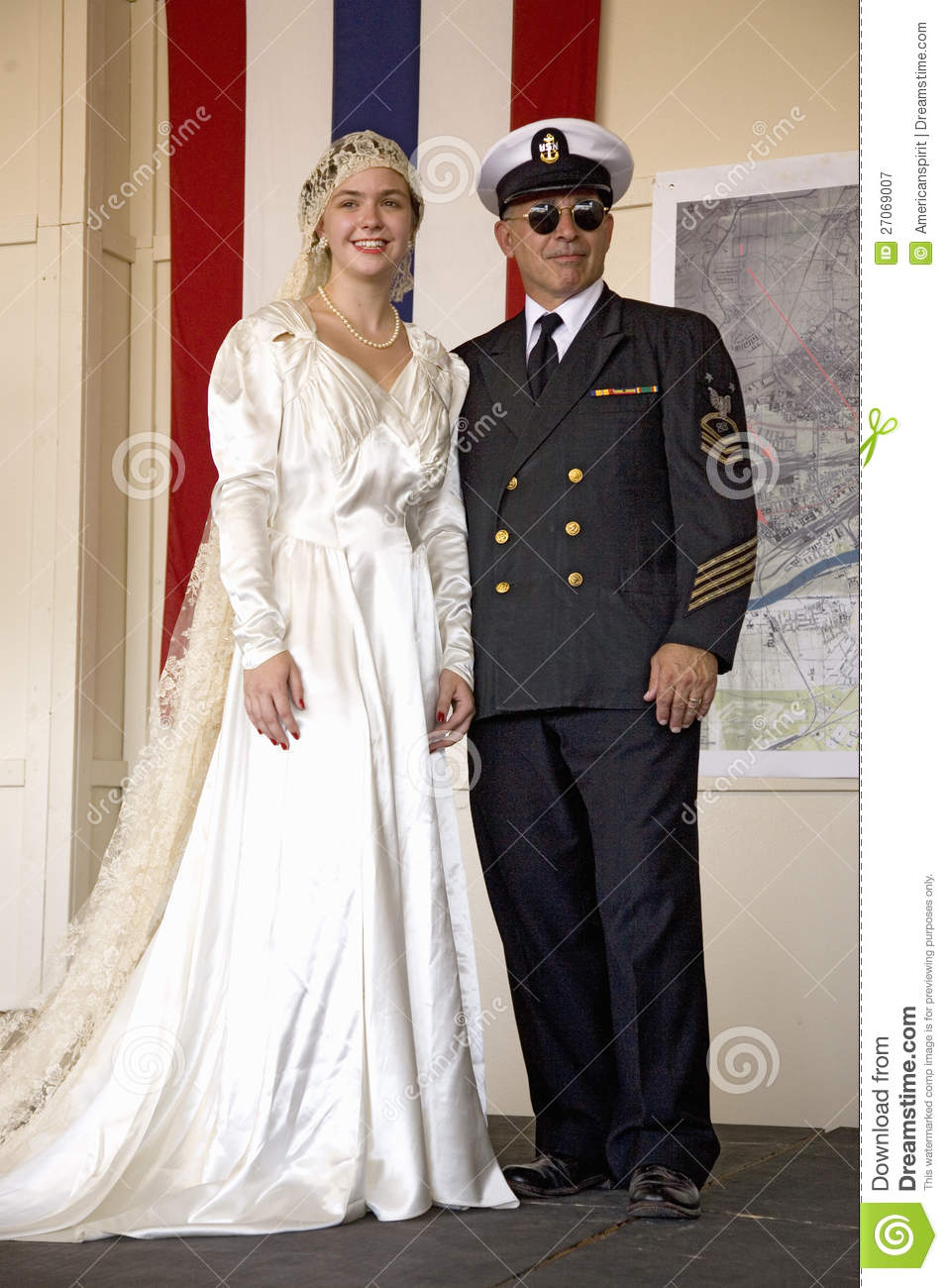 Bride in 1940s wedding dress posing with her father for Wedding dresses reading pa