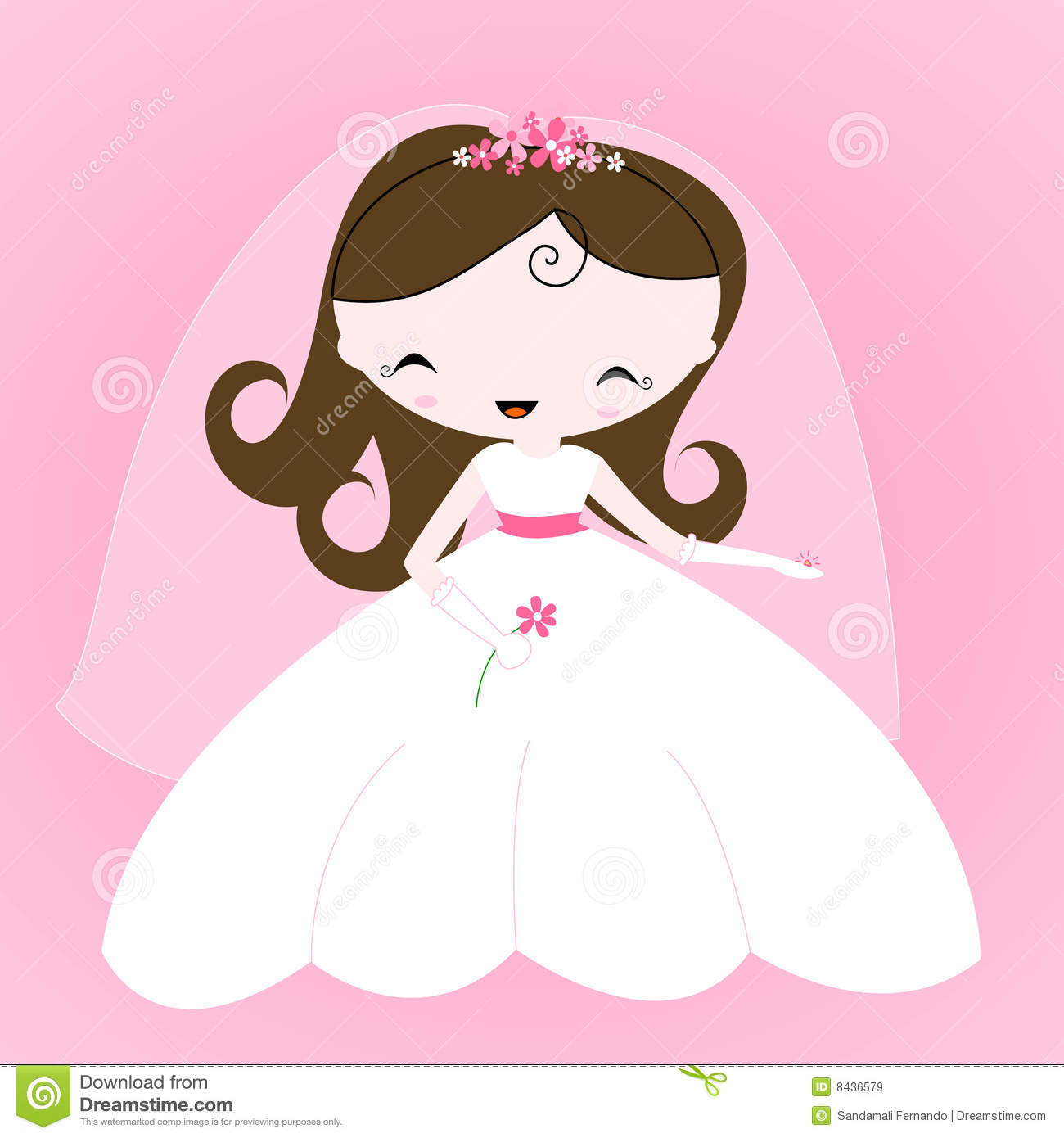 Wedding Hair Style Black Vector Art: Bride Stock Vector. Image Of Dream, Clip, Fashion, Design