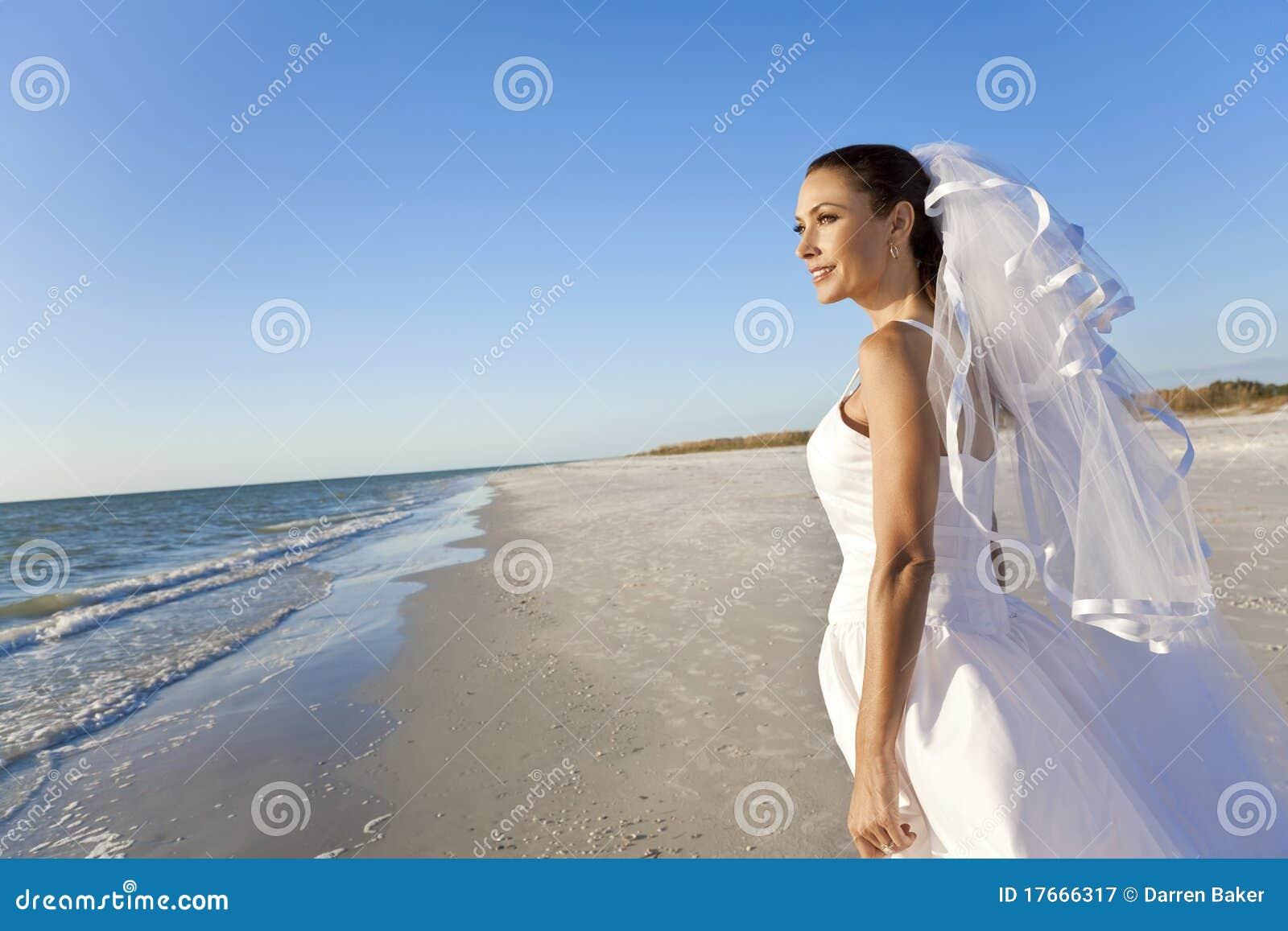 Bride at Beach Wedding