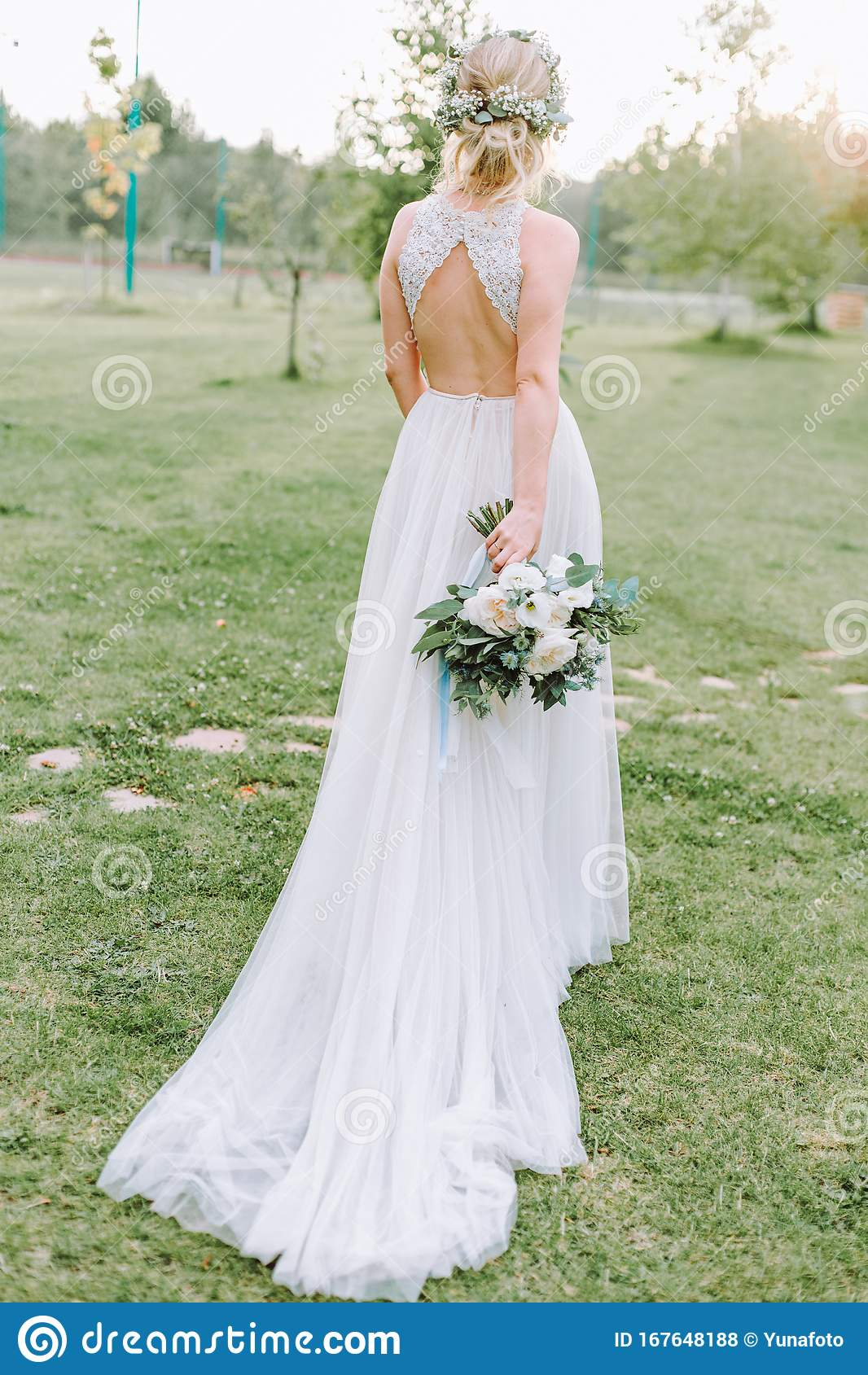 Bride Beauty Dress Wedding Outside Flowers Lawn Stock Photo Image Of Cute Garden 167648188,Wedding Dresses For Mother Of Bride Plus Size