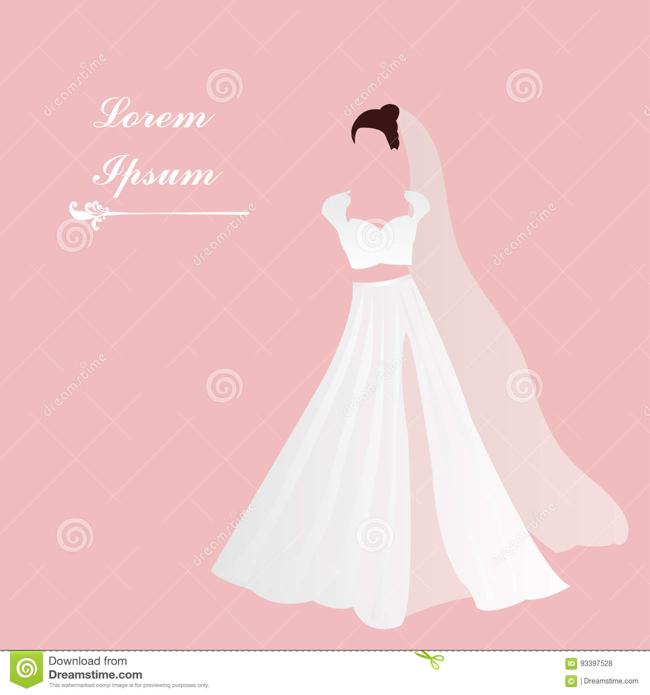 bridal gown white dress pink background add text bridal shower
