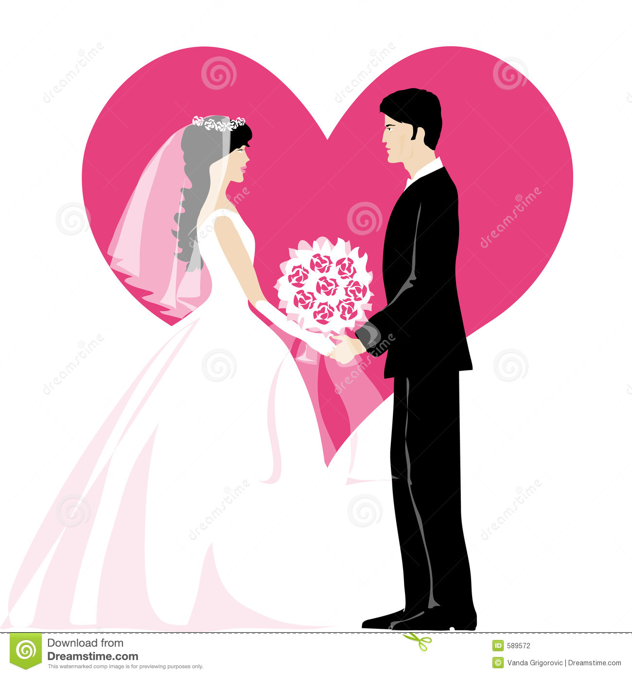 Bride And Bridegroom Stock Photography