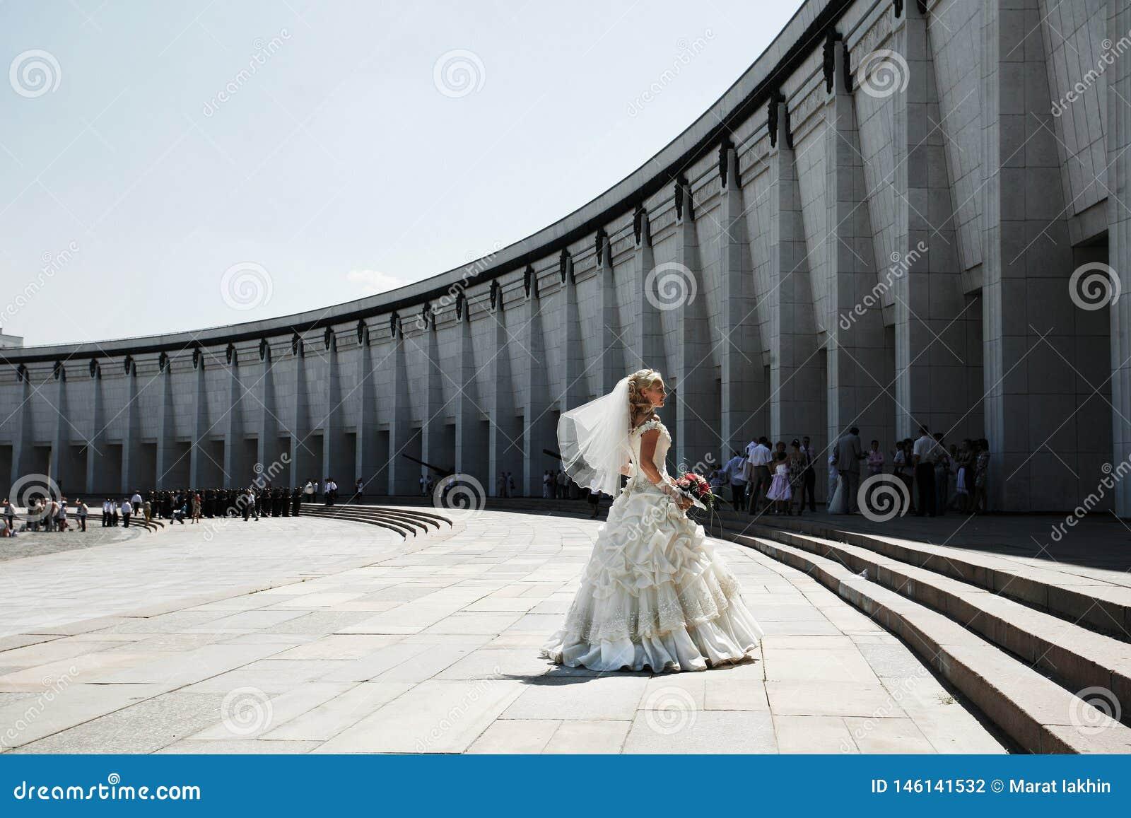 Bride dancing at Victory park