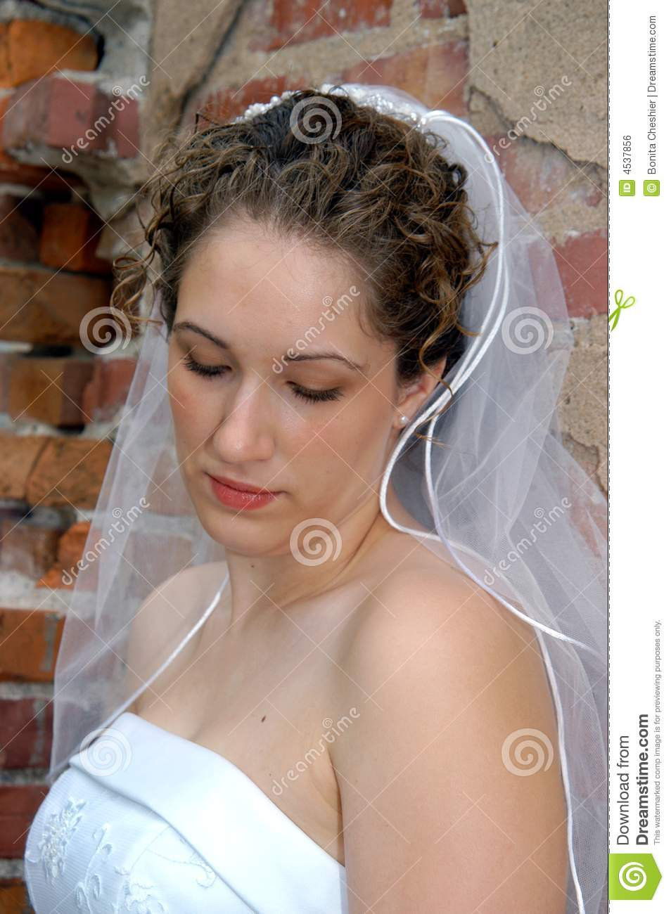 Bride deep in thought