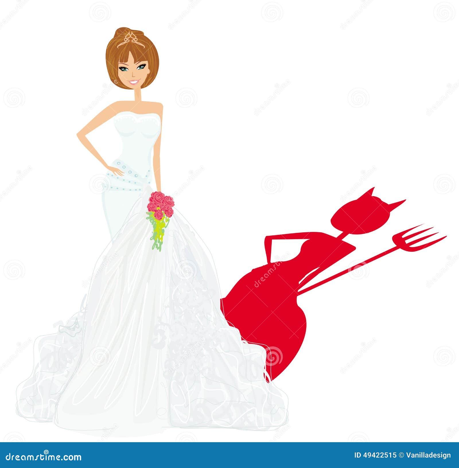 Bride Devil Stock Vector Illustration Of Dress Female 49422515