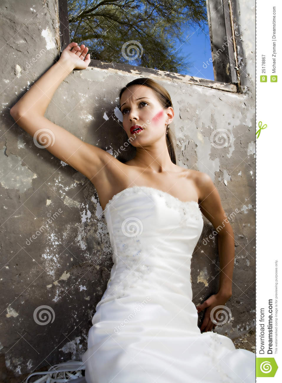 Bride In Distress Royalty Free Stock Photography Image