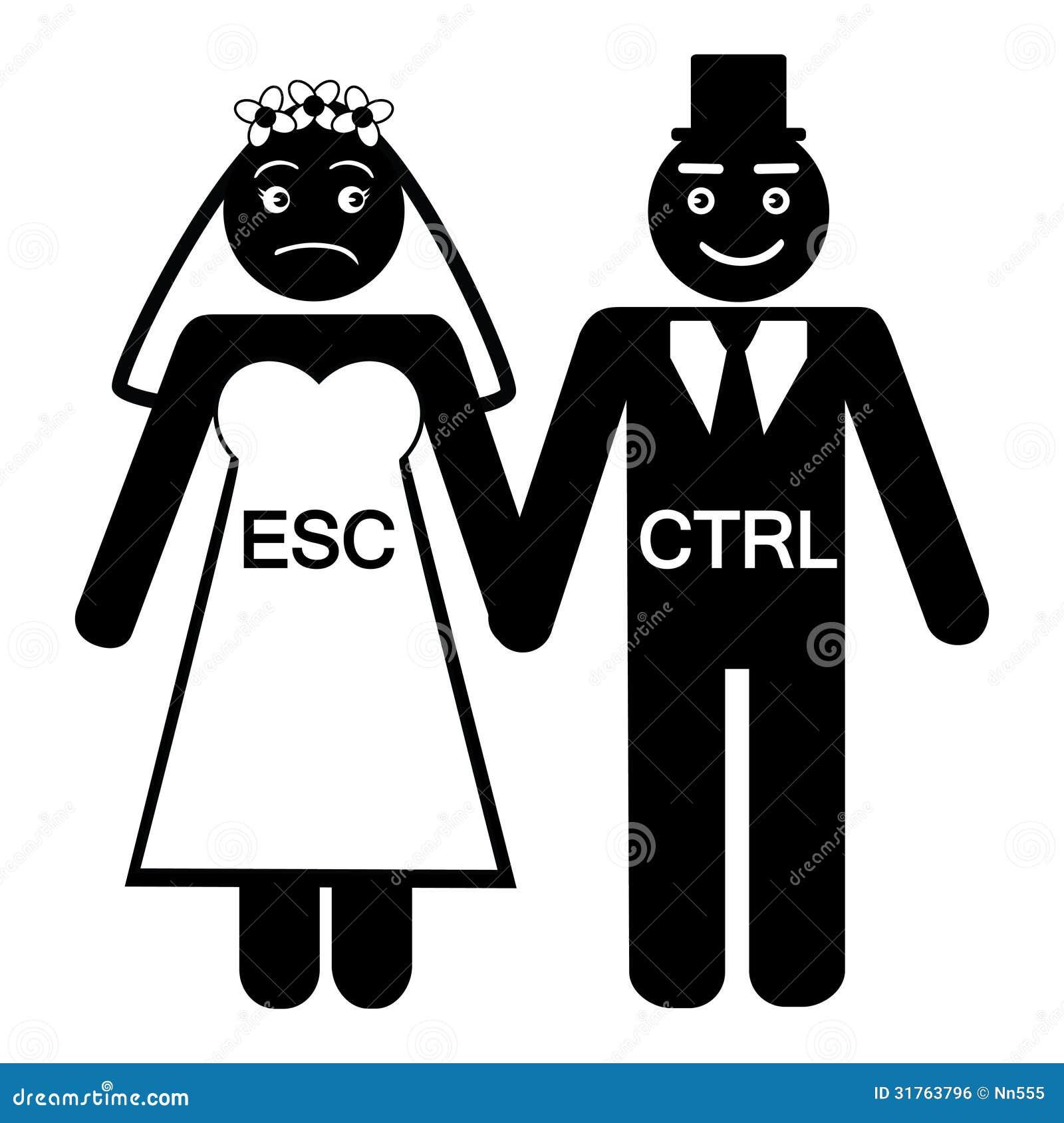 Bride ESC Groom CTRL Icon Royalty Free Stock Image - Image: 31763796