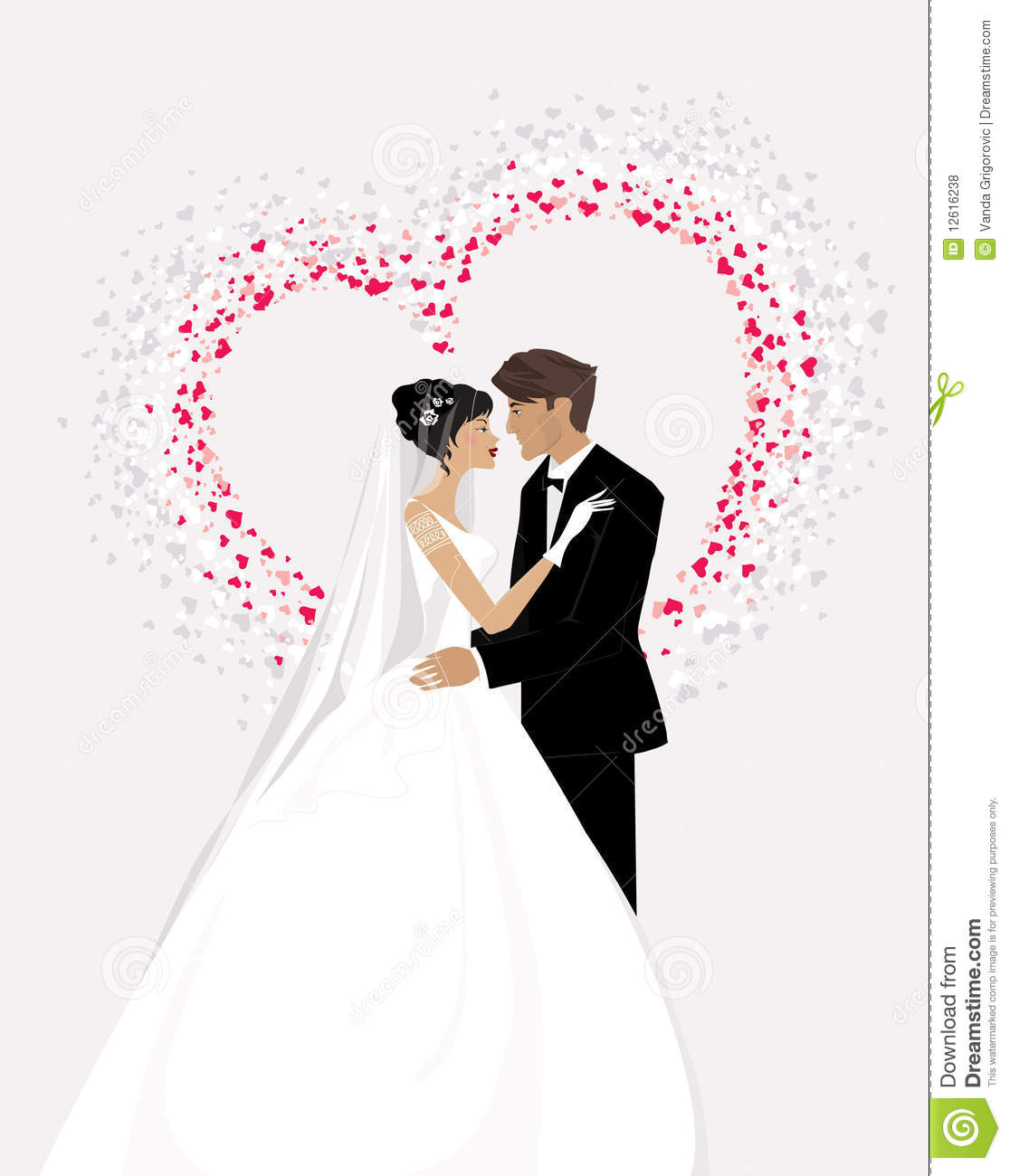 Bride and Groom stock vector. Illustration of bridal - 12616238