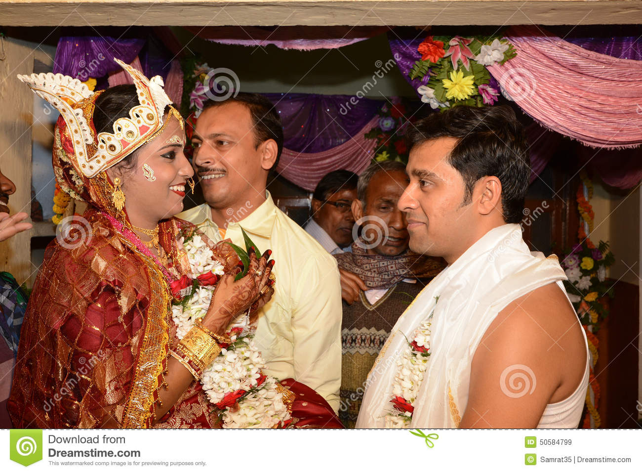 Bride Groom Editorial Stock Image Image Of Rituals 50584799