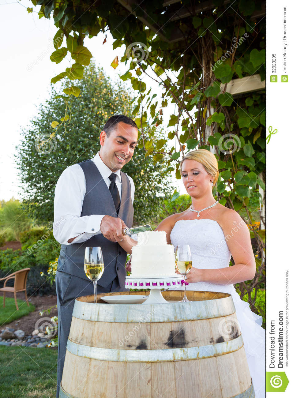 tradition behind cutting the wedding cake and groom cake cutting royalty free stock photo 21219