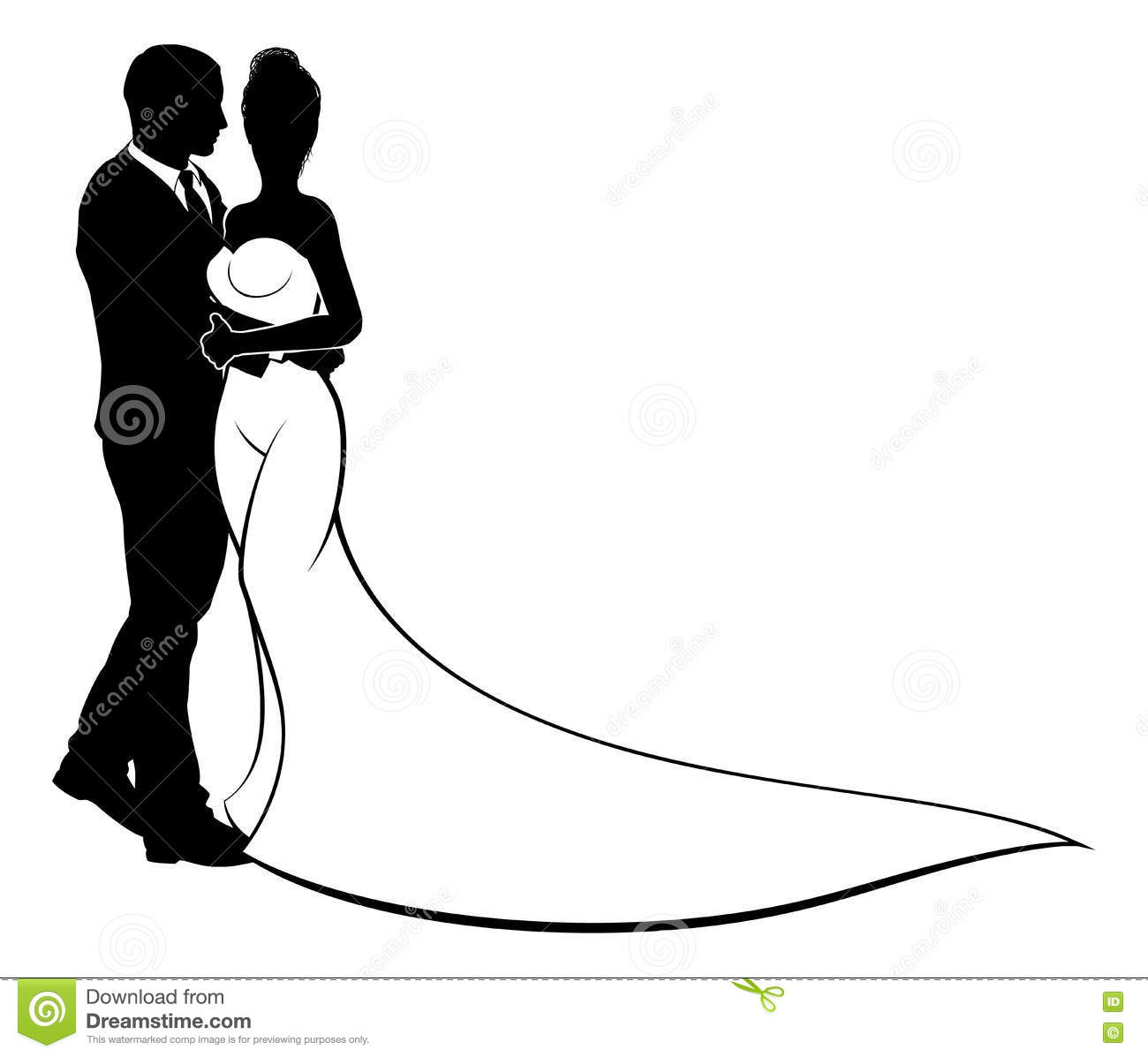 Bride and groom couple wedding silhouette stock vector image royalty free vector download bride and groom couple wedding silhouette junglespirit Choice Image