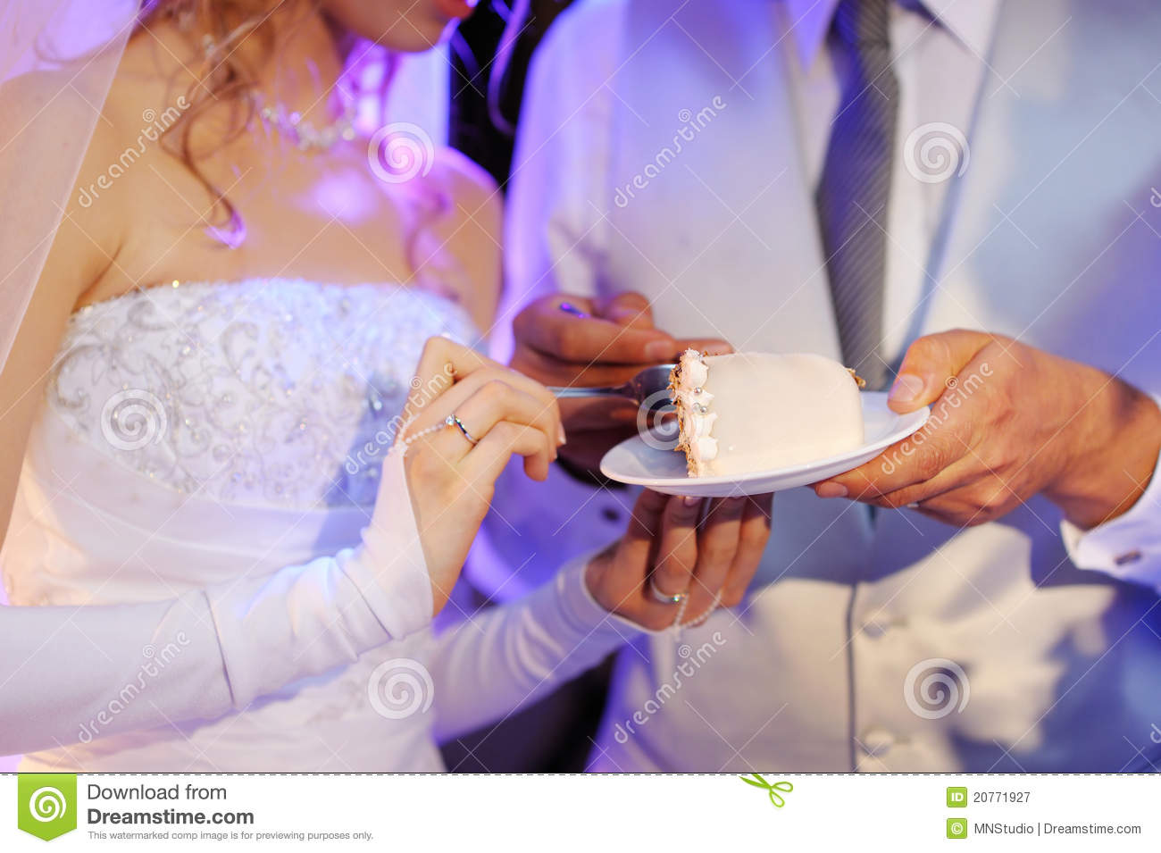 dream interpretation eating wedding cake a and a groom are a wedding cake royalty free 13730