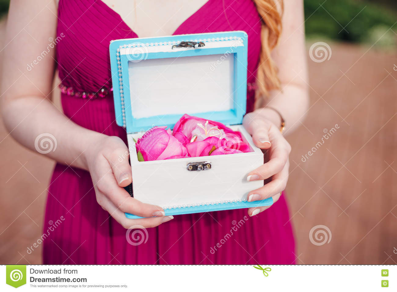 The Bride And Groom Exchange Rings At The Wedding Stock Photo ...