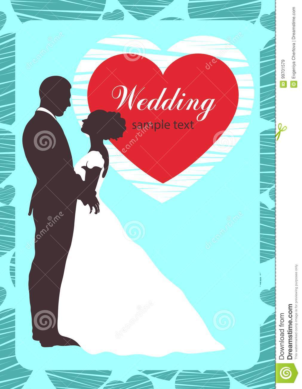 Bride And Groom Silhouette, Wedding Invitation, Card, Outline ...