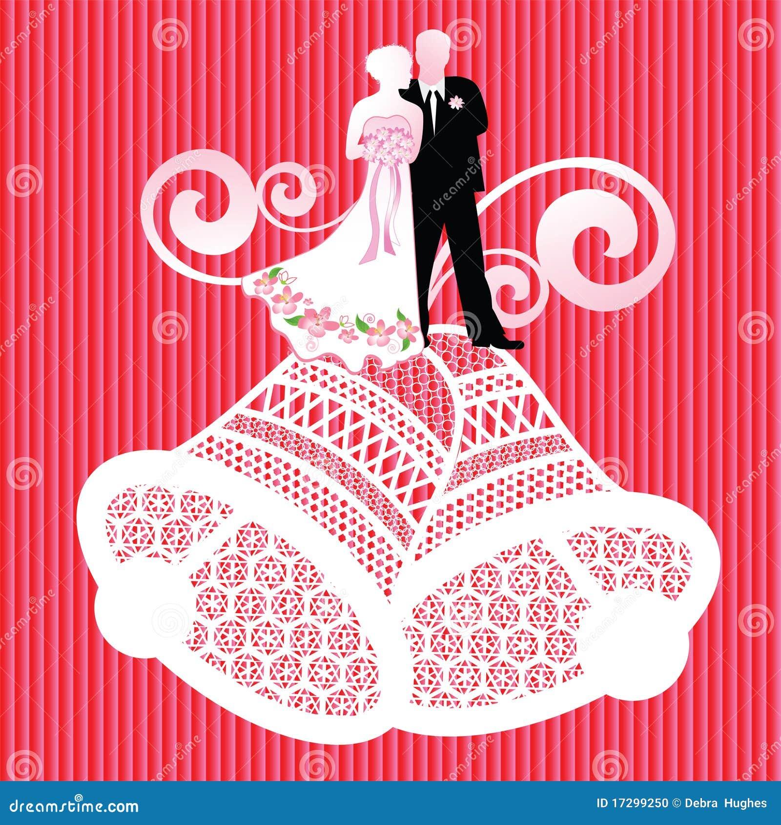 Bride And Groom On Wedding Bells Stock Vector