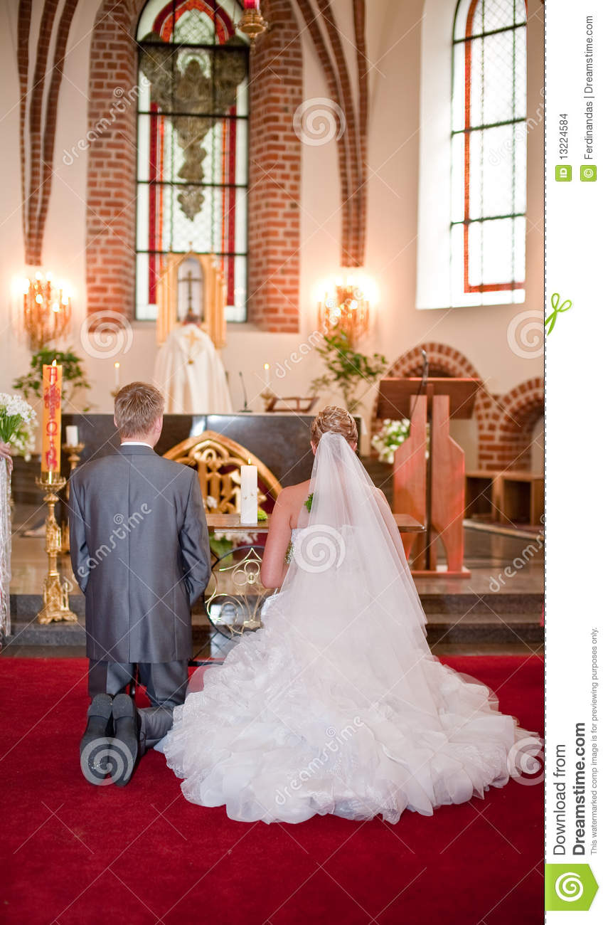 Bride And Groom On Wedding Ceremony Stock Images Image