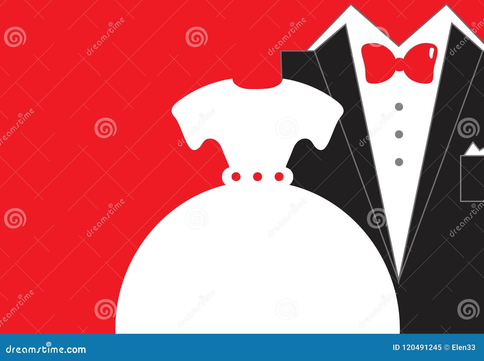 Bride And Groom Wedding Invitation Stock Vector - Illustration of ...